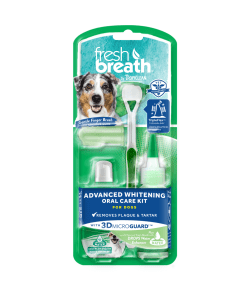 TropiClean Advanced Whitening Oral Care Kit for Dogs (2 Sizes)