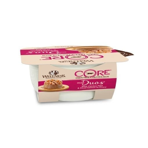 Well Divine Duos with Chicken Pâté & Diced Salmon for Cat 2.8oz