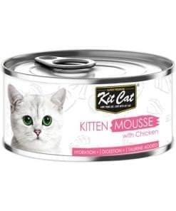 Kit Cat Kitten Mousse With Chicken Toppers 80g