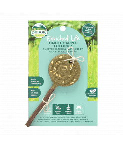 Oxbow Enriched Life - Apple Lollipop Treats & Toy for Small Animals
