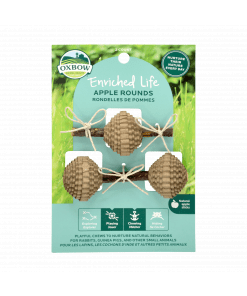 Oxbow Enriched Life - Apple Rounds Treats & Toy for Small Animals