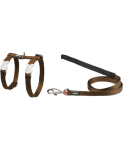 Red Dingo Cat Combo Classic - Harness & Lead - Brown