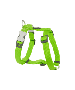Red Dingo Classic Harness - Lime Green