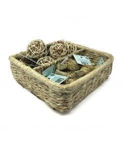 Oxbow Enriched Life - Deluxe Hay Wrap & Rattan Ball Basket for Small Animals
