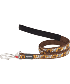 Red Dingo Fixed Monty Lead - Brown