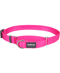 Red Dingo Martingale Half Check Collar - Hot Pink