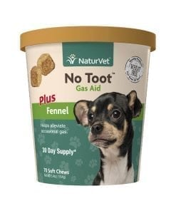 NaturVet No Toot Gas Aid Plus Fennel For Dog 70ct