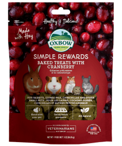 Oxbow Simple Rewards Baked Treats with Cranberry for Small Animals 3oz