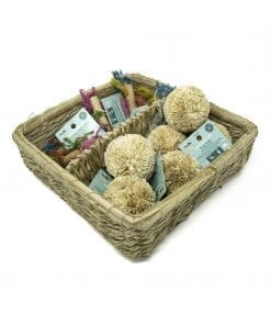 Oxbow Enriched Life - Play Pom & Rainbow Knot Basket for Small Animals
