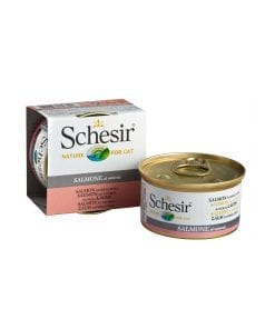 Schesir Cat Can in WaterSalmon Natural Style Wet Cat Food 85g