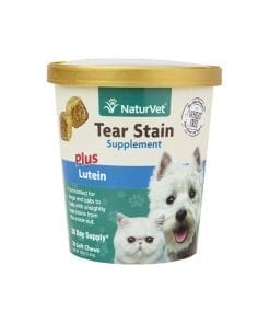 NaturVet Tear Stain Supplement Plus Lutein For Dog & Cat 70ct