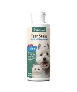 NaturVet Tear Stain Topical Remover Plus Aloe for Dog & Cat 4oz