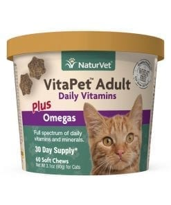Naturvet Vitapet Adult Daily Vitamins Plus Omegas for Cats 60ct